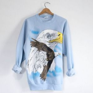 Vintage Bald Eagle Wilderness Sweatshirt
